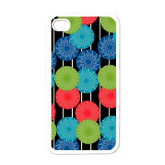 Vibrant Retro Pattern Apple iPhone 4 Case (White)