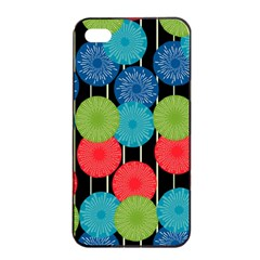Vibrant Retro Pattern Apple iPhone 4/4s Seamless Case (Black)