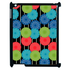 Vibrant Retro Pattern Apple iPad 2 Case (Black)