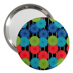 Vibrant Retro Pattern 3  Handbag Mirrors