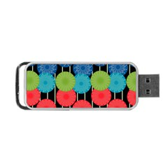 Vibrant Retro Pattern Portable USB Flash (Two Sides)