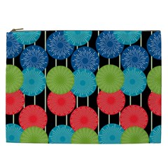 Vibrant Retro Pattern Cosmetic Bag (XXL)
