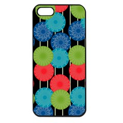 Vibrant Retro Pattern Apple iPhone 5 Seamless Case (Black)