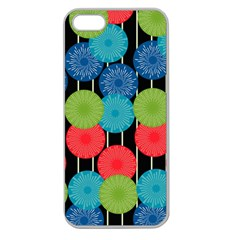 Vibrant Retro Pattern Apple Seamless iPhone 5 Case (Clear)