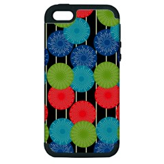 Vibrant Retro Pattern Apple iPhone 5 Hardshell Case (PC+Silicone)