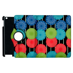 Vibrant Retro Pattern Apple iPad 2 Flip 360 Case