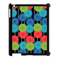 Vibrant Retro Pattern Apple iPad 3/4 Case (Black)