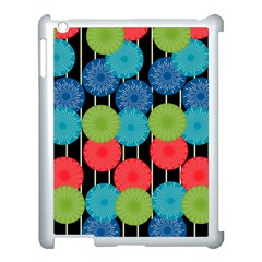 Vibrant Retro Pattern Apple iPad 3/4 Case (White)