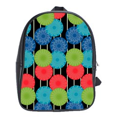 Vibrant Retro Pattern School Bags (XL)