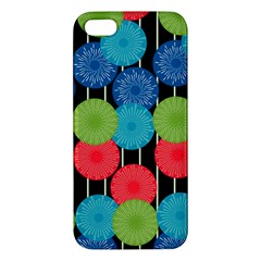 Vibrant Retro Pattern Apple iPhone 5 Premium Hardshell Case