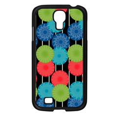Vibrant Retro Pattern Samsung Galaxy S4 I9500/ I9505 Case (Black)