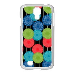 Vibrant Retro Pattern Samsung GALAXY S4 I9500/ I9505 Case (White)