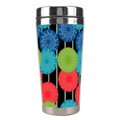 Vibrant Retro Pattern Stainless Steel Travel Tumblers