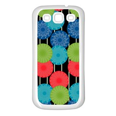 Vibrant Retro Pattern Samsung Galaxy S3 Back Case (White)