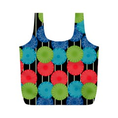 Vibrant Retro Pattern Full Print Recycle Bags (M)