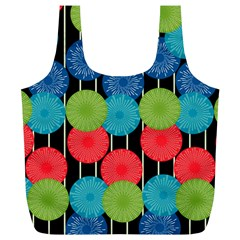 Vibrant Retro Pattern Full Print Recycle Bags (L)