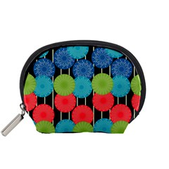 Vibrant Retro Pattern Accessory Pouches (Small)