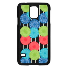 Vibrant Retro Pattern Samsung Galaxy S5 Case (Black)