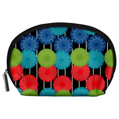 Vibrant Retro Pattern Accessory Pouches (Large)