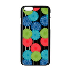 Vibrant Retro Pattern Apple iPhone 6/6S Black Enamel Case