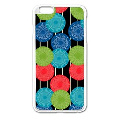 Vibrant Retro Pattern Apple iPhone 6 Plus/6S Plus Enamel White Case
