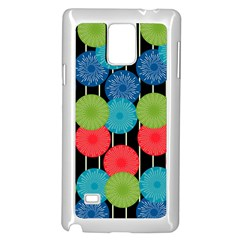 Vibrant Retro Pattern Samsung Galaxy Note 4 Case (White)