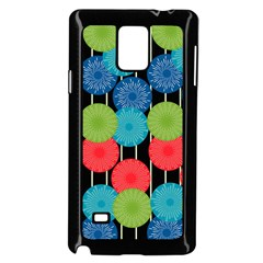 Vibrant Retro Pattern Samsung Galaxy Note 4 Case (Black)