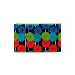 Vibrant Retro Pattern Cosmetic Bag (XS)