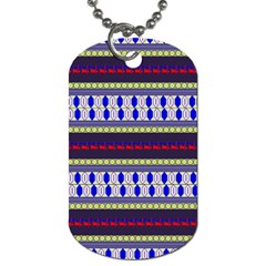 Colorful Retro Geometric Pattern Dog Tag (two Sides) by DanaeStudio