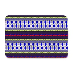 Colorful Retro Geometric Pattern Plate Mats by DanaeStudio