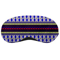 Colorful Retro Geometric Pattern Sleeping Masks by DanaeStudio