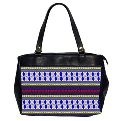 Colorful Retro Geometric Pattern Office Handbags (2 Sides)  by DanaeStudio