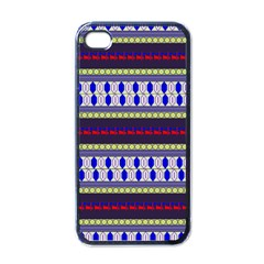 Colorful Retro Geometric Pattern Apple Iphone 4 Case (black) by DanaeStudio