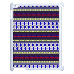 Colorful Retro Geometric Pattern Apple Ipad 2 Case (white) by DanaeStudio