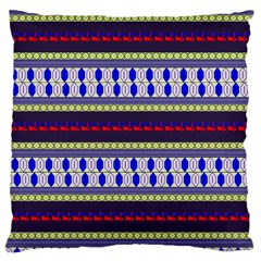 Colorful Retro Geometric Pattern Large Cushion Case (one Side) by DanaeStudio