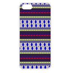 Colorful Retro Geometric Pattern Apple Iphone 5 Seamless Case (white) by DanaeStudio