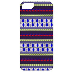 Colorful Retro Geometric Pattern Apple Iphone 5 Classic Hardshell Case by DanaeStudio