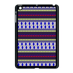 Colorful Retro Geometric Pattern Apple Ipad Mini Case (black) by DanaeStudio