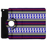 Colorful Retro Geometric Pattern Apple iPad Mini Flip 360 Case Front