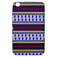Colorful Retro Geometric Pattern Samsung Galaxy Tab 3 (8 ) T3100 Hardshell Case  by DanaeStudio