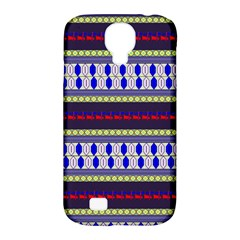 Colorful Retro Geometric Pattern Samsung Galaxy S4 Classic Hardshell Case (pc+silicone) by DanaeStudio