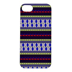 Colorful Retro Geometric Pattern Apple Iphone 5s/ Se Hardshell Case by DanaeStudio