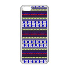 Colorful Retro Geometric Pattern Apple Iphone 5c Seamless Case (white) by DanaeStudio