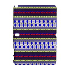 Colorful Retro Geometric Pattern Samsung Galaxy Note 10 1 (p600) Hardshell Case by DanaeStudio