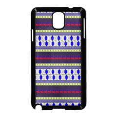 Colorful Retro Geometric Pattern Samsung Galaxy Note 3 Neo Hardshell Case (black) by DanaeStudio