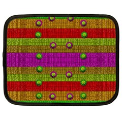 A Wonderful Rainbow And Stars Netbook Case (Large)