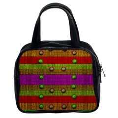 A Wonderful Rainbow And Stars Classic Handbags (2 Sides)