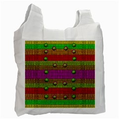 A Wonderful Rainbow And Stars Recycle Bag (one Side) by pepitasart