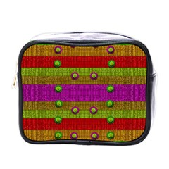 A Wonderful Rainbow And Stars Mini Toiletries Bags by pepitasart