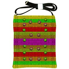 A Wonderful Rainbow And Stars Shoulder Sling Bags